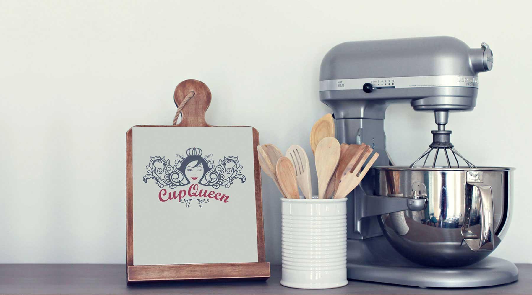 cupqueen butik pasta logo tasarımı eskişehir