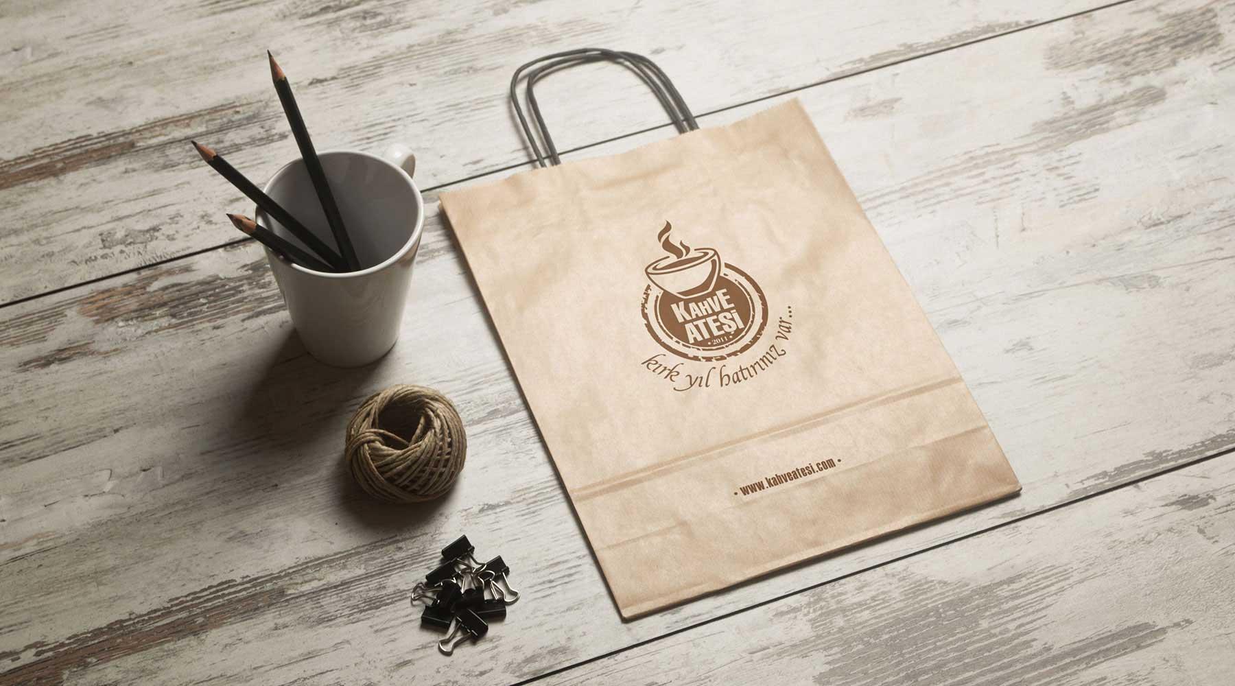 Kahve Ateşi kraft çanta