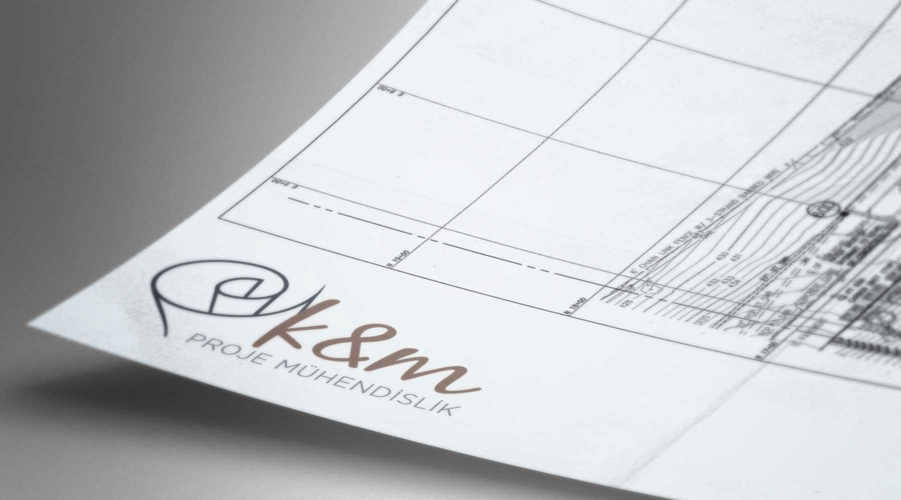 km proje mühendislik logo tasarımı