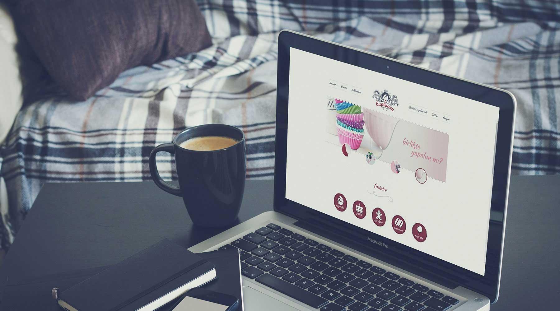 cupqueen butik pasta web tasarım