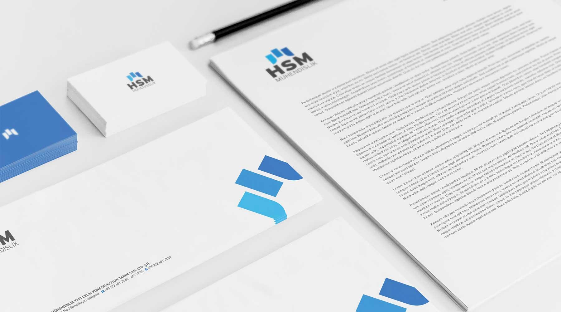 HSM Mühendislik kurumsal kimlik eskişehir